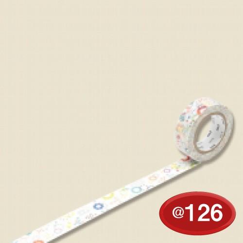 #001603328 マスキングテープ(mt ex) 15mm×10m巻 カラフルPOP 1巻/s