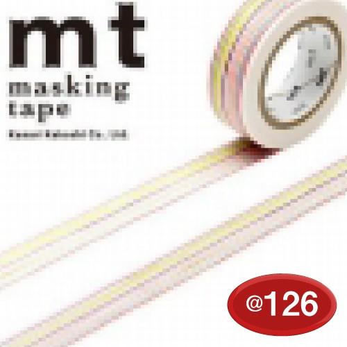 #001603332 マスキングテープ(mt ex) 15mm×10m巻 色えんぴつ・ボーダー 1巻/s