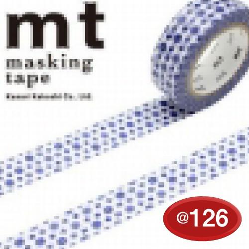 #001603761 マスキングテープ(mt ex) 15mm×10m巻 小花・活字 1巻/s