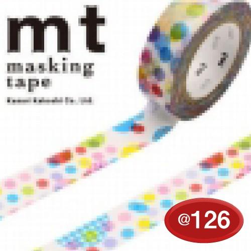 #001603819 マスキングテープ(mt ex) 15mm×10m巻 ランダムドット 1巻/s
