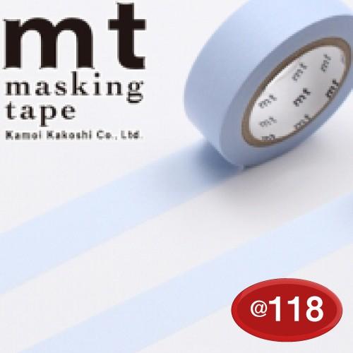 #001603840 マスキングテープ(mt ex) 15mm×10m巻 パステルブルー 1巻/s