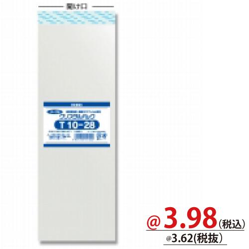 #006744000 クリスタルパックT(テープ付)T10-28 100枚/s