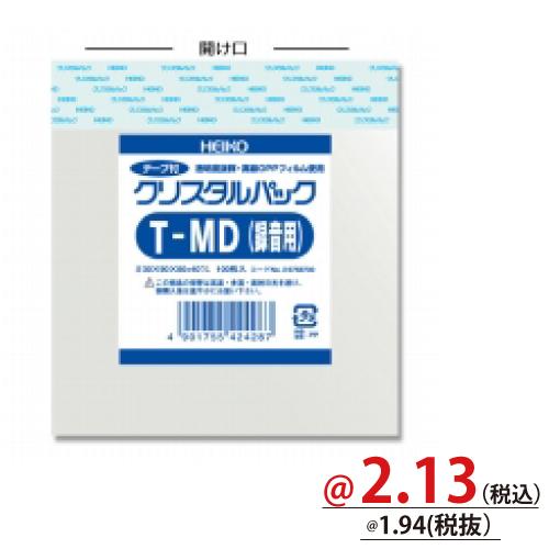 #006758700 クリスタルパックT(テープ付)厚口タイプ メディア用T-MD録音 100枚/s