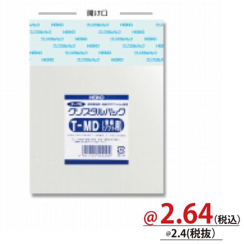 #006758800 クリスタルパックT(テープ付)厚口タイプ メディア用T-MDソフト 100枚/s