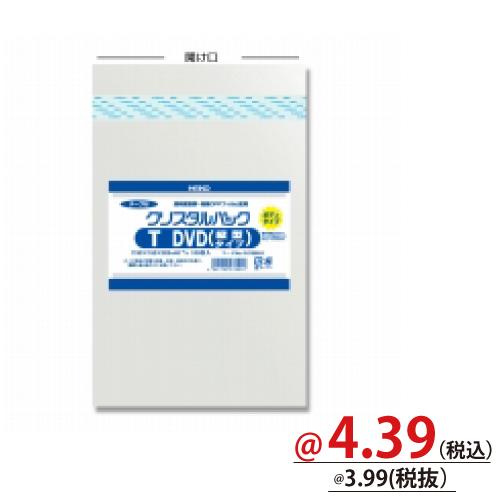 #006769910 クリスタルパックT(テープ付)ボディタイプ T-DVD(縦型タイプ)用 100枚/s