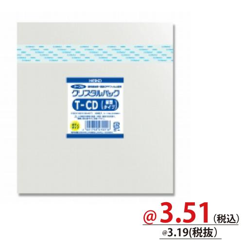 #006769911 クリスタルパックT(テープ付)ボディタイプ T-CD(縦型タイプ)用 100枚/s