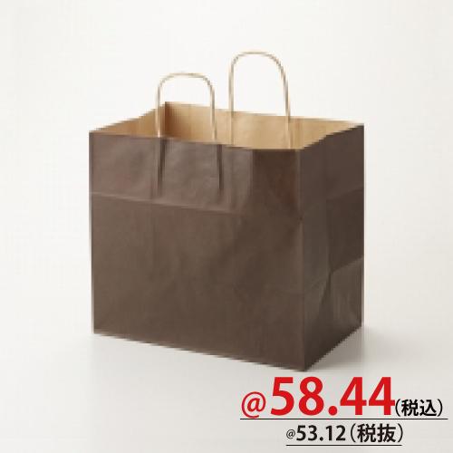 #003268706 紙袋 焦茶C 32-4   50枚/s