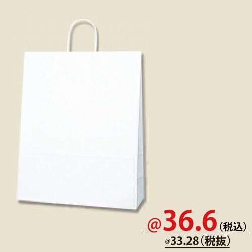 #003222800 紙袋 白無地 25CB 2才  50枚/s