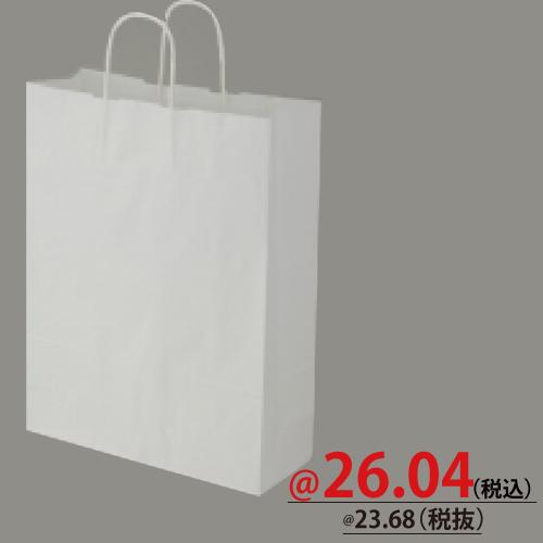 #003235801 紙袋 白無地 25CB 2才  50枚/s