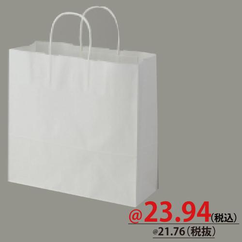 #003240101 紙袋 白無地 25CB 3才  50枚/s