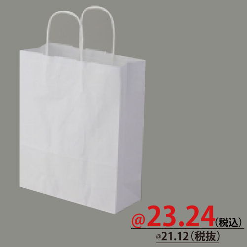 #003264301 紙袋 白無地 25CB S  50枚/s