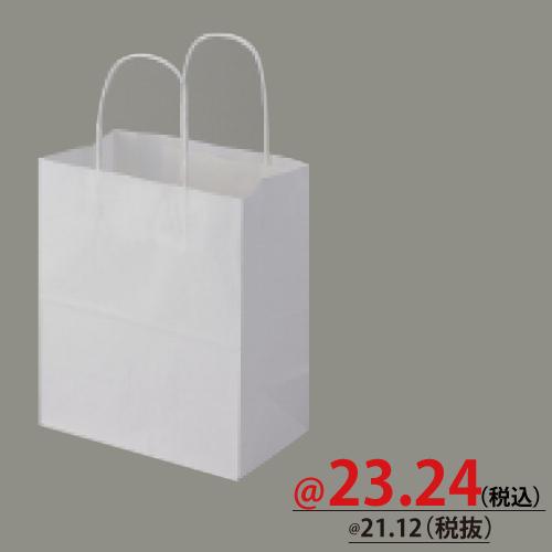 #003266000 紙袋 白無地 25CB 21-12  50枚/s