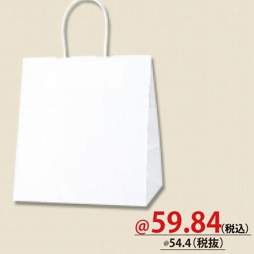 #003267101 紙袋 白無地 25CB 26-18  50枚/s
