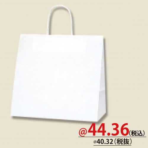 #003267110 紙袋 白無地 25CB 30-3  50枚/s