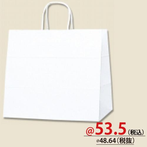 #003268000 紙袋 白無地 25CB 32-4  50枚/s