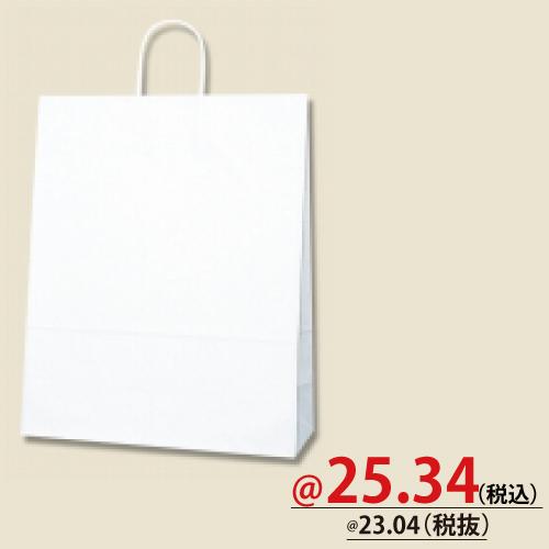 #003276010 紙袋 白無地 25CB MS-1  50枚/s