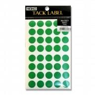 #007062645 タックラベル(シール) No.027 丸 緑 14mm 680片/s