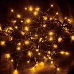 新LEDストリングライト ブラックコード イエロー
