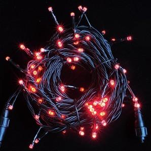 新LEDストリングライト ブラックコード レッド