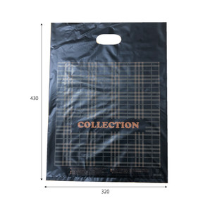 販売袋(黒)柄あり(特大)1000枚/s W320×H430