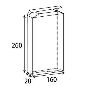 クリアBOX W160xD20xH260 0.25t 200枚/s