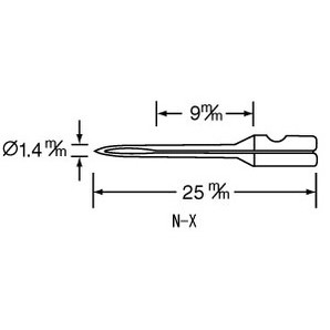 バノック 503X・303 X用 替針 N-X(細)薄物用 3本/s