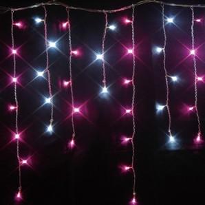 新LED つららライト ホワイト+スノーピンクMIX