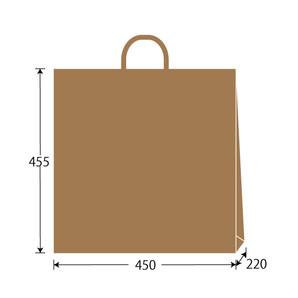紙袋 茶無地 W450×H455×D220 200枚/s