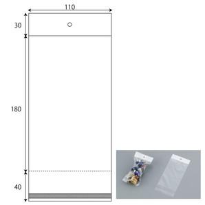 ヘッダー袋 W110xH180+30+40 1000枚/s