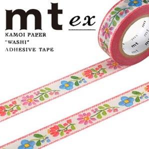 #001603277 マスキングテープ(mt ex) 15mm×10m巻 刺繍 1巻/s