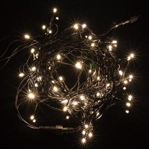 新LEDストリングライト ブラックコード シャンパンゴールド