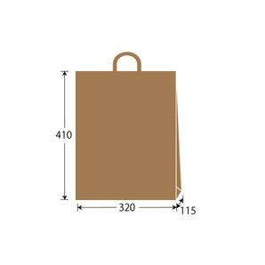 紙袋 茶無地 W320×H410×D115 300枚/s