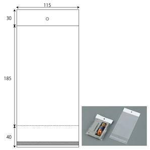 ヘッダー袋 W115xH185+30+40 1000枚/s