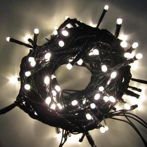 新LEDストリングライト ブラックコード ホワイト
