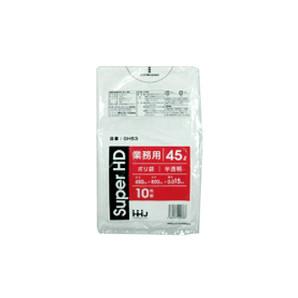 ゴミ袋(半透明) 45L W600×H800×0.015 1000枚/s