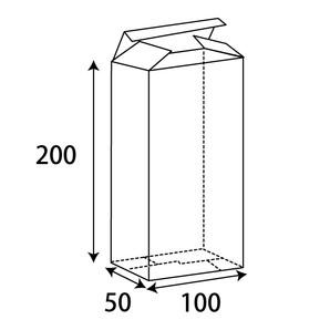 クリアBOX W100xD50xH200 0.3t 200枚/s