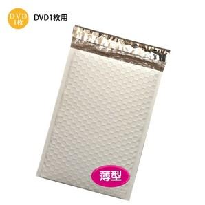 薄いビニールクッション封筒DVD(白色) W190×H257+40 500枚/s