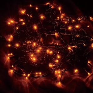 新LEDストリングライト ブラックコード オレンジ