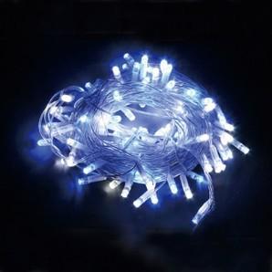 新LEDストリングライト クリアコード ホワイト+ブルーMIX