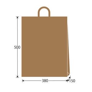 紙袋 茶無地 W380×H500×D150 200枚/s