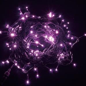 新LEDストリングライト ブラックコード スノーピンク